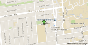 Map to Berkeley High School